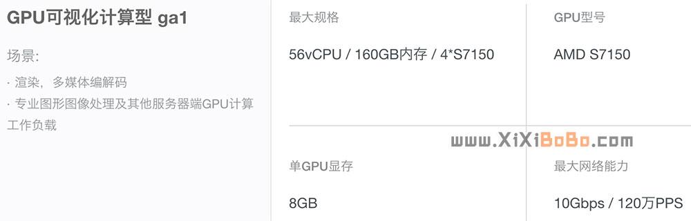 阿里云GPU可视化计算型ga1云服务器