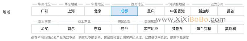 腾讯云服务器地域选择