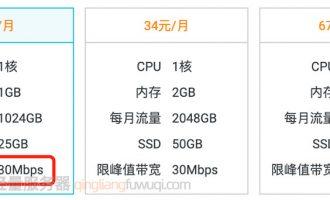 阿里云服务器30M带宽在哪买?