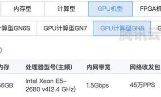 腾讯云GPU服务器NVIDIA GN8硬件参数及收费标准